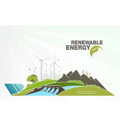 Evolution renewable energy concept greening vector