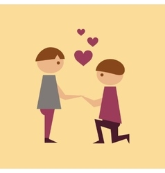 flat icon on stylish background gay lovers vector image