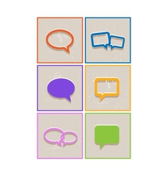 Flat paper seech bubble icons vector image vector image