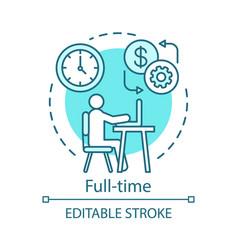 Full-time concept icon employment job recruitment vector