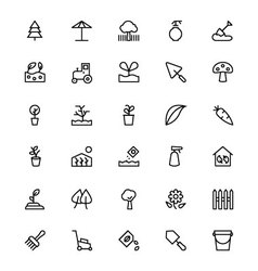 Gardening Line Icons 3 vector image