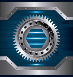Gears and cogs design vector