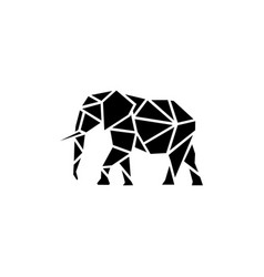 geometric polygonal elephant vector image
