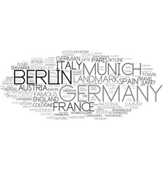 Germany word cloud concept vector