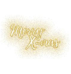 glitter calligraphic inscription vector image