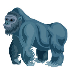 gorilla icon cartoon style vector image