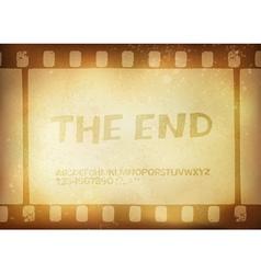 Grunge film stripe background vector