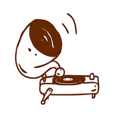 Hand Drawn Record Player vector image
