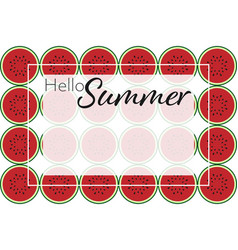 hello summer banner template vector image