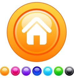 Home circle button vector image