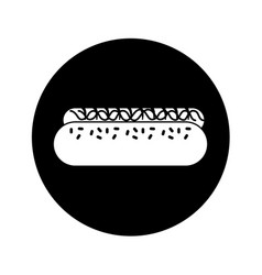 Hot dog isolated icon vector