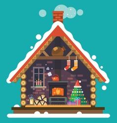 house santa claus vector image