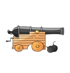 Huge cannon vector