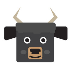 Isolated bull face vector