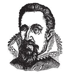 Johann kepler vintage vector