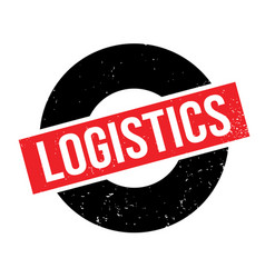 Logistics rubber stamp vector