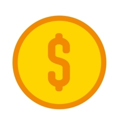 money coin isolated icon design vector image