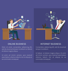 online business collection vector image