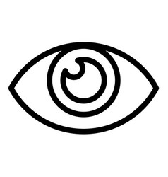 optical eye view icon outline style vector image