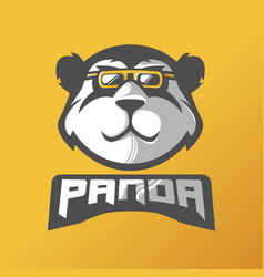 Panda mascot logo design with modern vector
