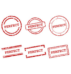 Perfect stamps vector