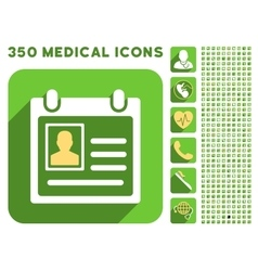 Personal Badge Icon and Medical Longshadow Icon vector