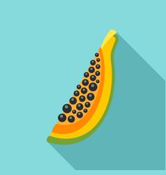 piece of papaya icon flat style vector image