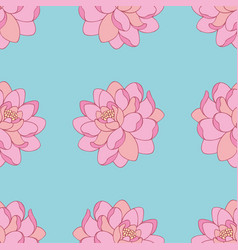 Pink flowers seamless pattern for design vector