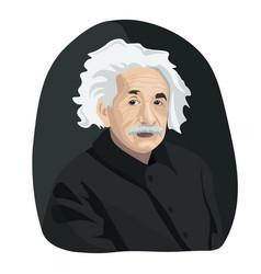 Portrait of the famous scientist albert einstein vector
