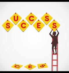 push pin make success word vector image