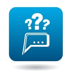 Questions to technical support icon flat style vector