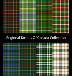 Regional tartans canada collection vector
