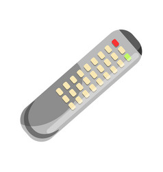 remote control in grey color isolated on white vector image