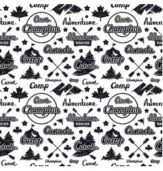 scout camp seamless pattern vector image