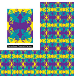 seamless abstract oriental pattern with sample vector image