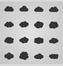 set of cloud icons vector image