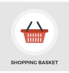 Shopping basket flat icon vector image