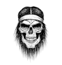 Skull head injun vector