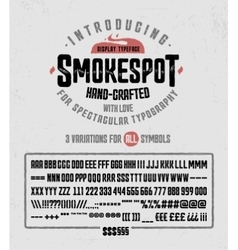 smokespot han-crafted typeface vector image