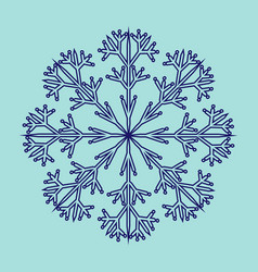 snowflake sign 2711 vector image