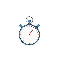 Stopwatch solid icon timer for apps vector