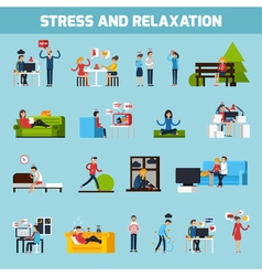 Stress And Relaxation Collection vector image