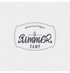 summer camp - badge icon poster label print vector image