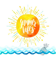 Summer holidays greeting card vector