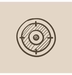 Target board sketch icon vector image