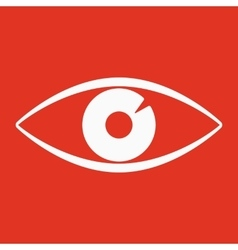 The eye icon Eye symbol Flat vector image