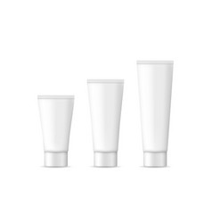 tube with cosmetic cream white package vector image
