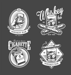 Vintage mens club logotypes vector