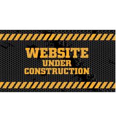 Website under construction sign vector
