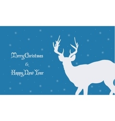 Backgrounds Merry Christmas with deer vector image vector image